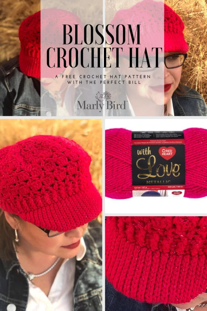 FREE Blossom Crochet Hat-Crochet Hat Pattern with Perfect Bill