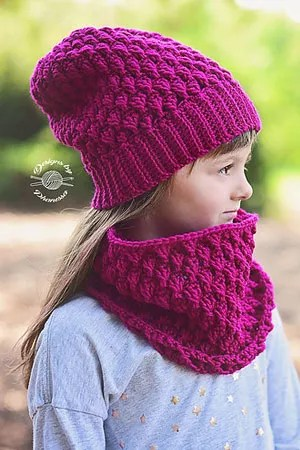 Designs By Phanessa- Raspberry Beanie-Chic Sheep Yarn-Chic Sheep FREE Patterns