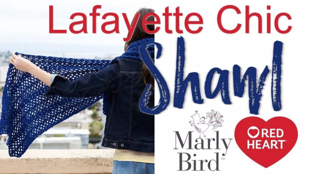 FREE Crochet Shawl-Beginner Crochet Shawl-Lace Crochet Shawl-Lafayette Chic Crochet Shawl