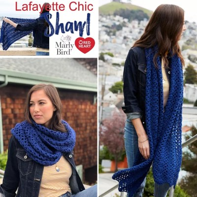 Crochet Shawl-Lafayette Chic Shawl