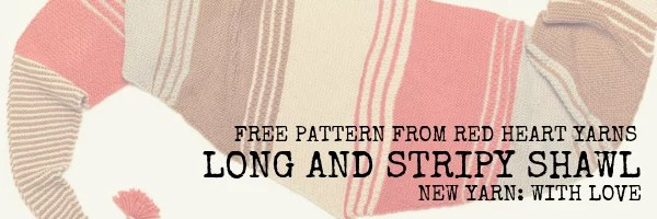 Download the Long and Stripy Shawl Pattern-Beginner Knit Shawl Pattern