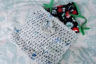 Crochet Plarn Swimsuit Bag