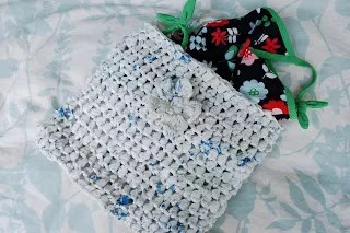 Crochet Plarn Swimsuit Bag