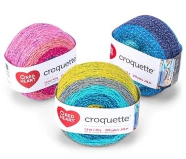 Red Heart Croquette yarn