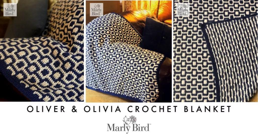 FREE Crochet Mosaic Blanket
