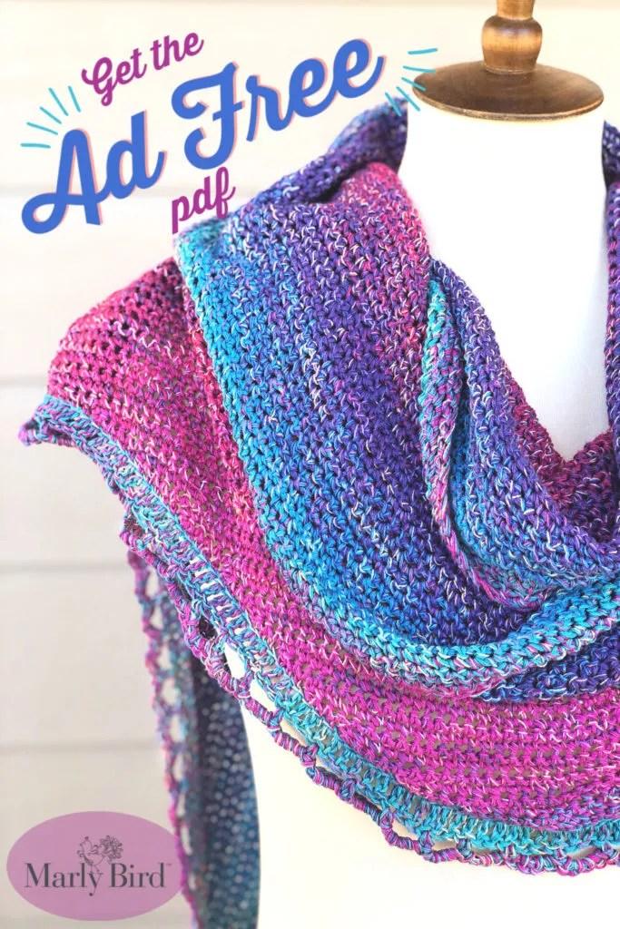FREE Crochet Shawl Pattern-Rainbow Sprinkle Shawl
