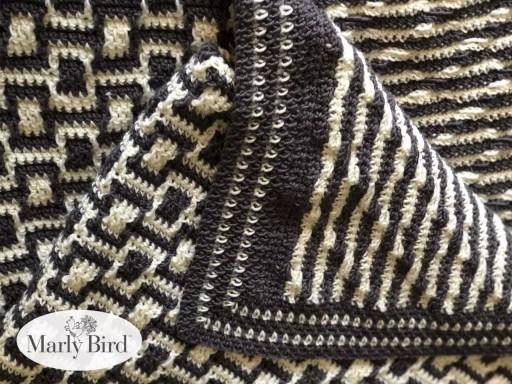 Chic Modern Mosaic Blocks Throw  Free Crochet Pattern by Marly Bird