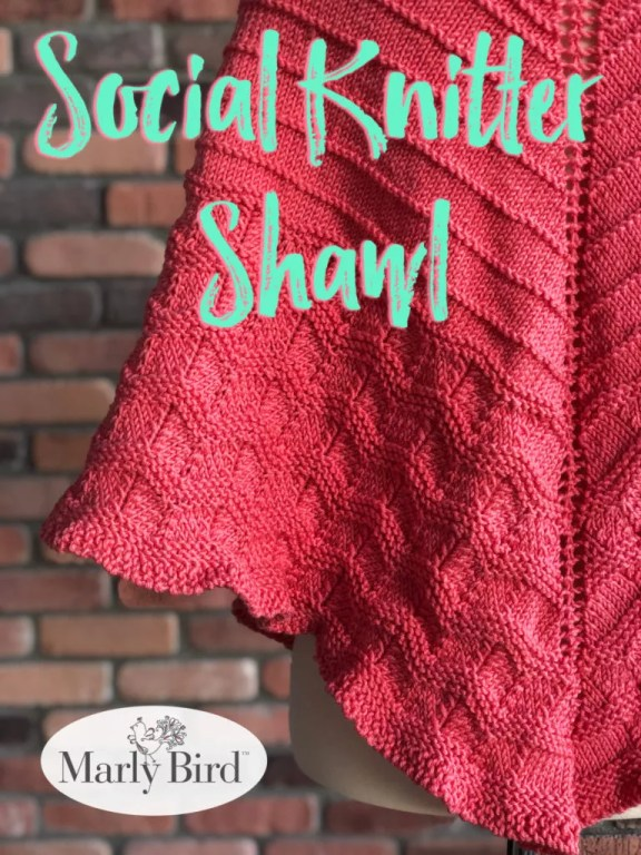 Social Knitter Shawl by Marly Bird Free Knit Shawl Pattern