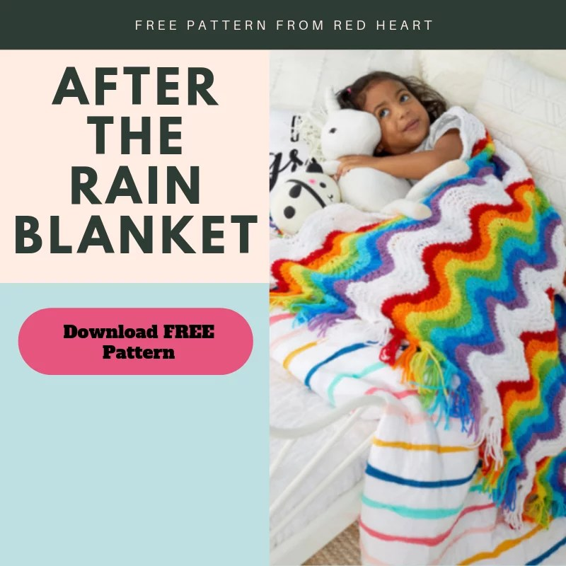 Download the FREE After the Rain Feather and Fan Knit Blanket Pattern