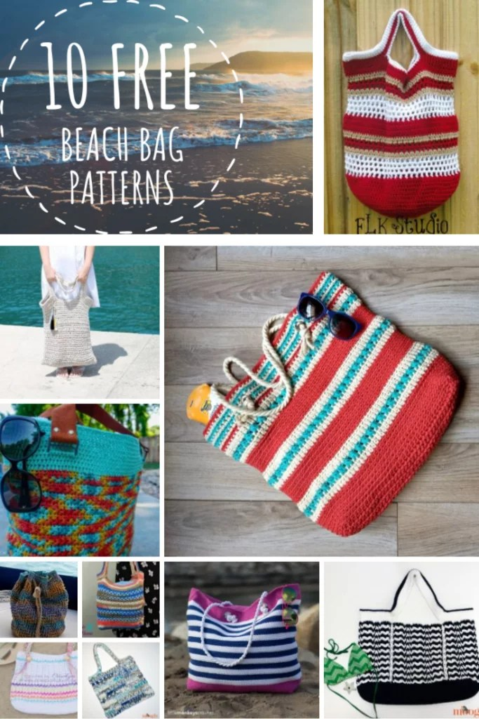 FREE beach bag patterns to crochet