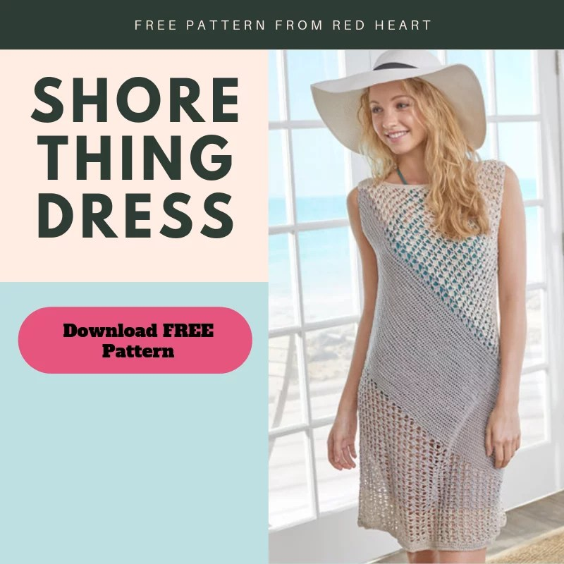 Download your free pattern for the crochet beach cover up-shore thing dress