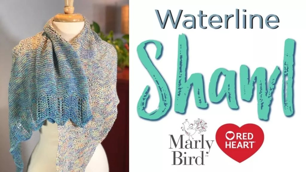 Video Tutorial-How to Knit the Beginner Lace Waterline Shawl