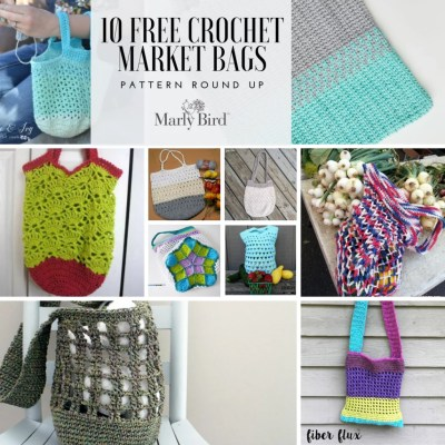 10 FREE Crochet Market Bag Patterns
