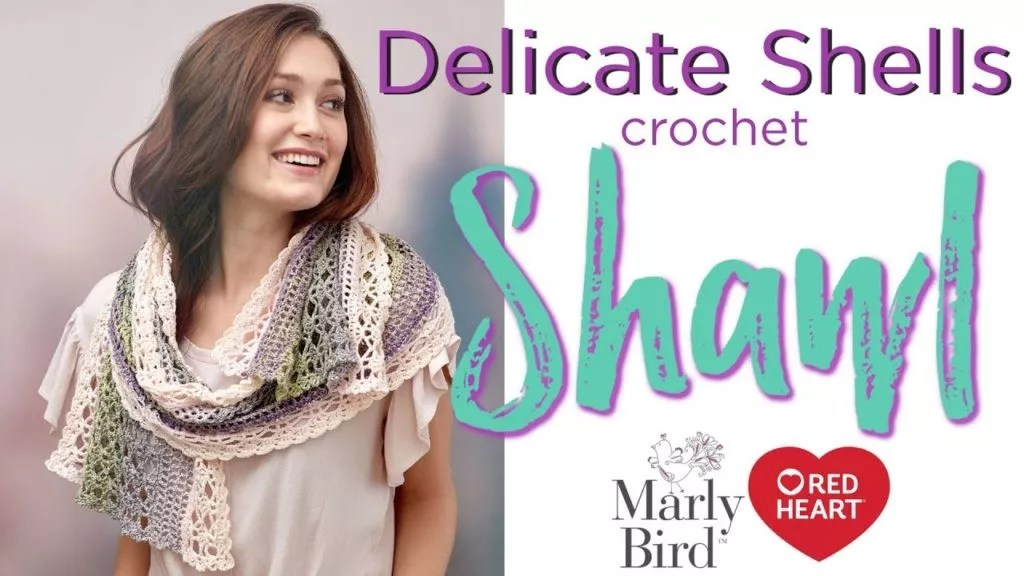 Delicate Shells Crochet Shawl Video Tutorial
