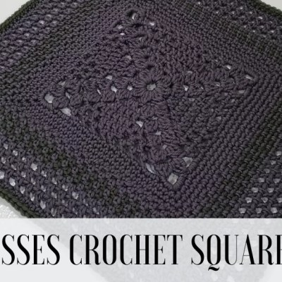 Crochet Blanket Square: X for Kisses Square
