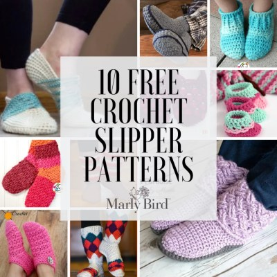 10 FREE Crochet Slipper Patterns