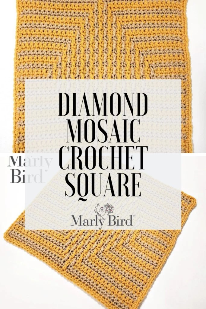 FREE Diamond Mosaic Crochet Square Pattern by Marly Bird