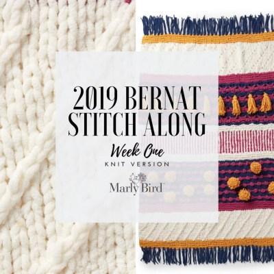 JOANN Stitchalong Bernat Knit Blanket Clue1