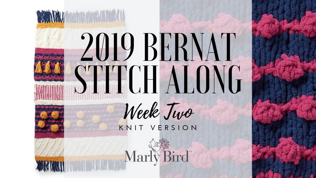 2019 Bernat Stitch Along Week 2 Pattern