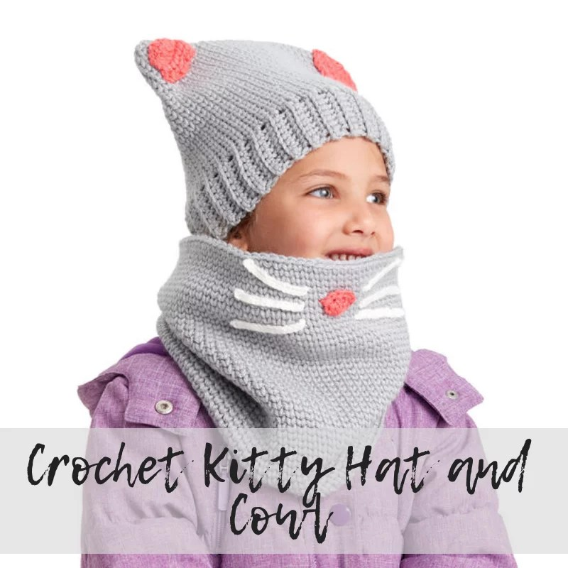 Download the FREE Crochet Kitty Hat and Cowl set from Yarnspirations