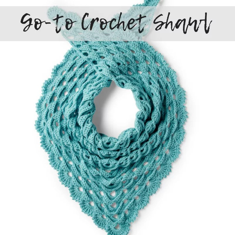 Download the FREE Go-To Crochet Shawl Pattern