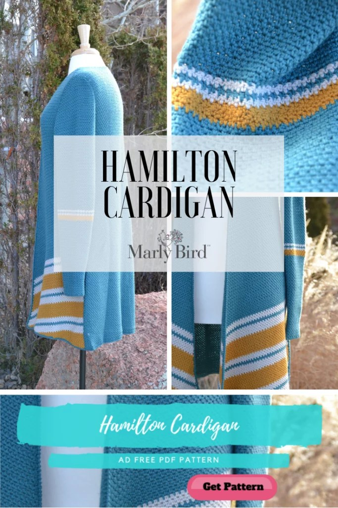 Download the Ad Free PDF pattern of the Hamilton Crochet Cardigan from Marly Bird