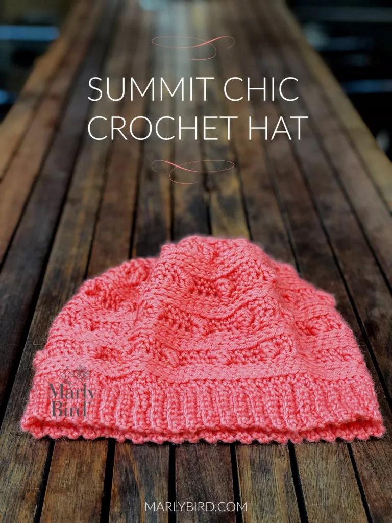 Summit Chic Crochet Hat by Marly Bird | Free Crochet Hat Pattern | Long Bobble Crochet Hat