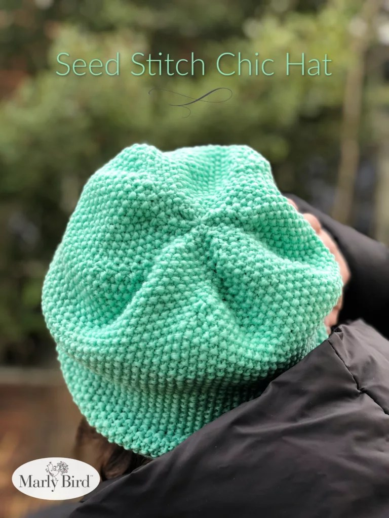 Seed Stitch Chic Hat by Marly Bird | Free Knitting Pattern
