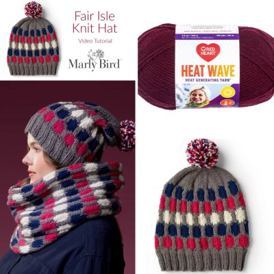 FREE Fair Isle Knit Hat Video Tutorial