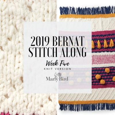 JOANN Stitchalong Bernat Knit Blanket Clue 5