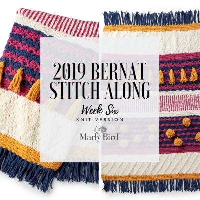 JOANN Stitchalong Bernat Knit Blanket Clue 6