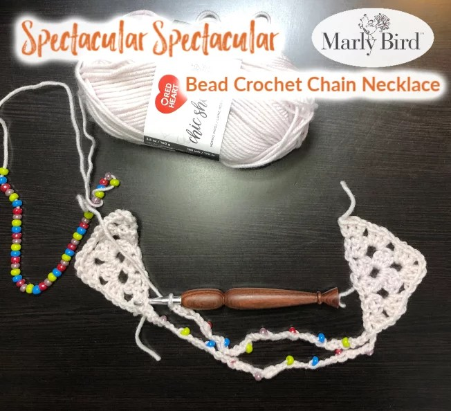 beginner bead crochet necklace