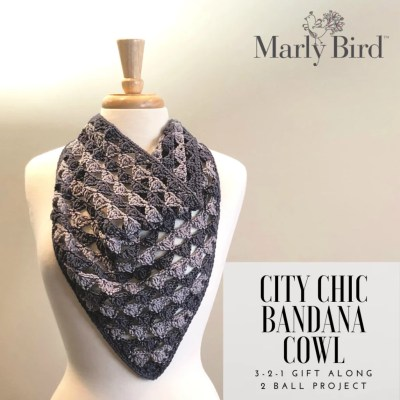 2 Ball Crochet Bandana Cowl Project