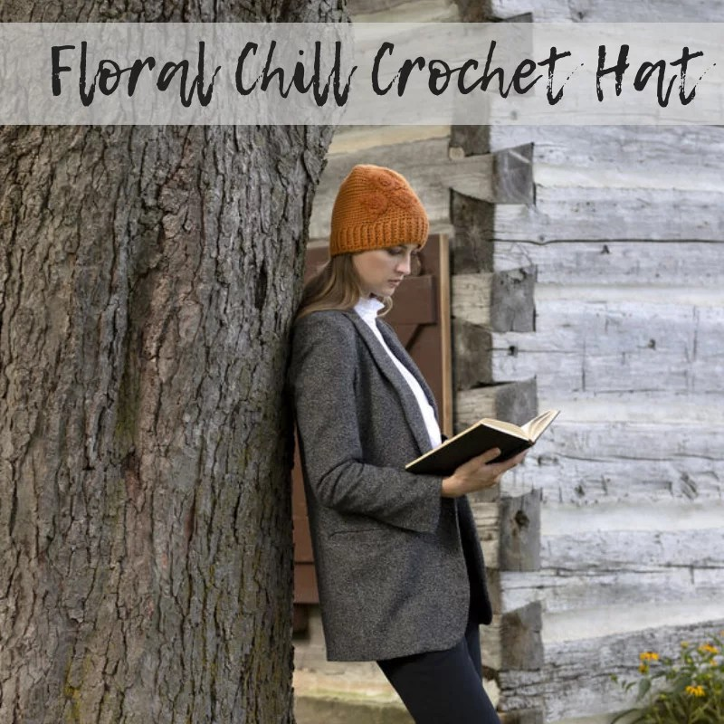 Download the FREE Crochet Hat with flowers pattern
