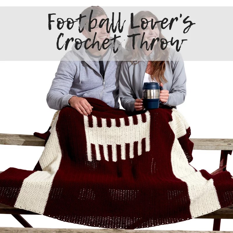 Download the FREE Football Crochet Blanket Pattern