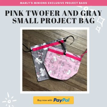 Purchase an EXCLUSIVE Marly's Minions Project Bag set-Pink twofer and gray small project bag
