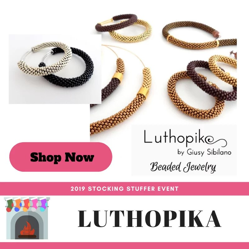Shop Luthopika during the 2019 Stocking Stuffer Event with Marly Bird