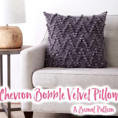Crochet Chevron Bobble Pillow