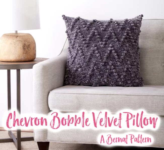 FREE crochet Chevron Bobble Pillow Pattern