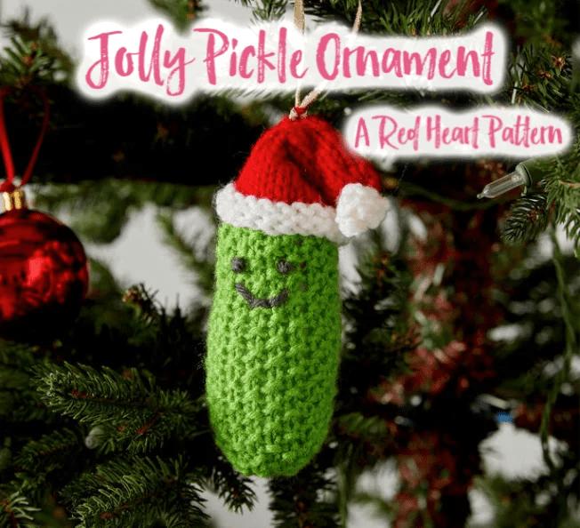 FREE Crochet Pickle Ornament