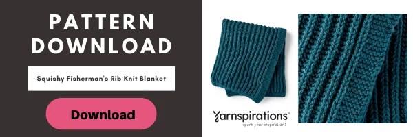 Download the FREE Fisherman's Rib Knit Blanket Pattern