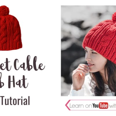 How to Crochet Cable Rib Hat