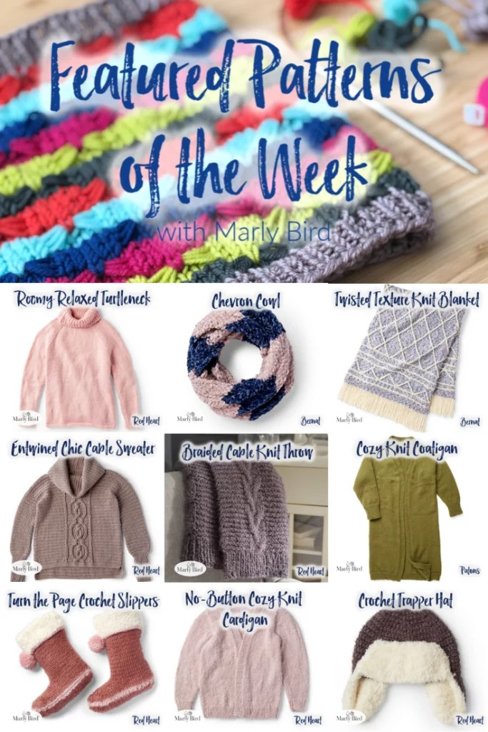 10 FREE Soft and Cozy knit and crochet patterns from Yarnspirations