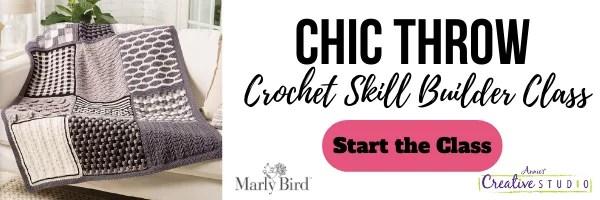 Chic Throw Beginner Crochet Blanket Skill Builder Class