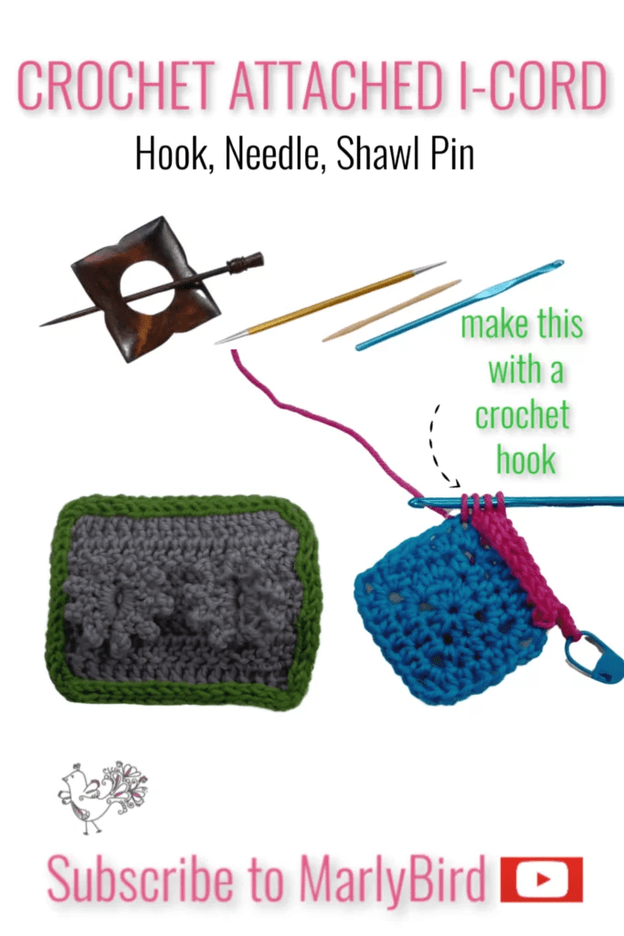 Video Tutorial for Crochet Attached I Cord