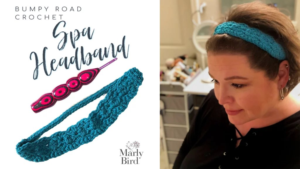 FREE Crochet Spa Headband with Video Tutorial