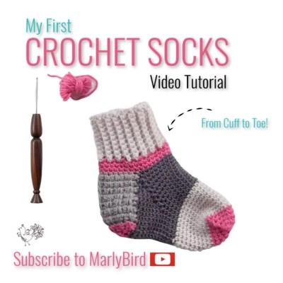 Beginner Crochet Socks