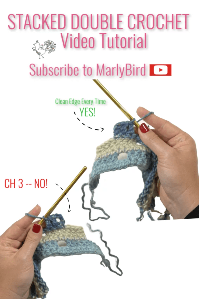 Stacked Double Crochet Video Tutorial