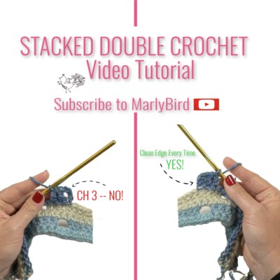 How to Crochet a Stacked Double Crochet