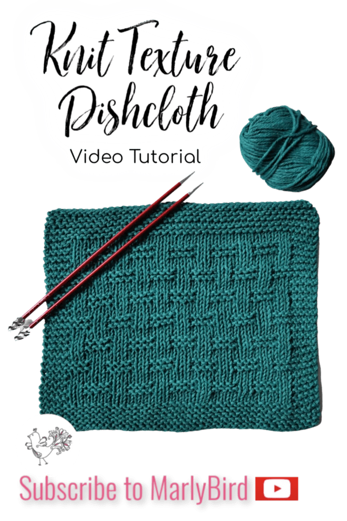 Beginner Knit Dishcloth Video Tutorial Knit Washcloth
